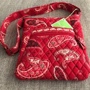 NWOT Vera Bradley Retired Red Mesa Crossbody Bag